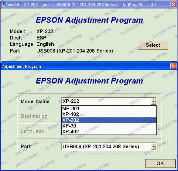 Reset Free Gratis epson xp200 xp101 xp202 xp30 xp402 ME301