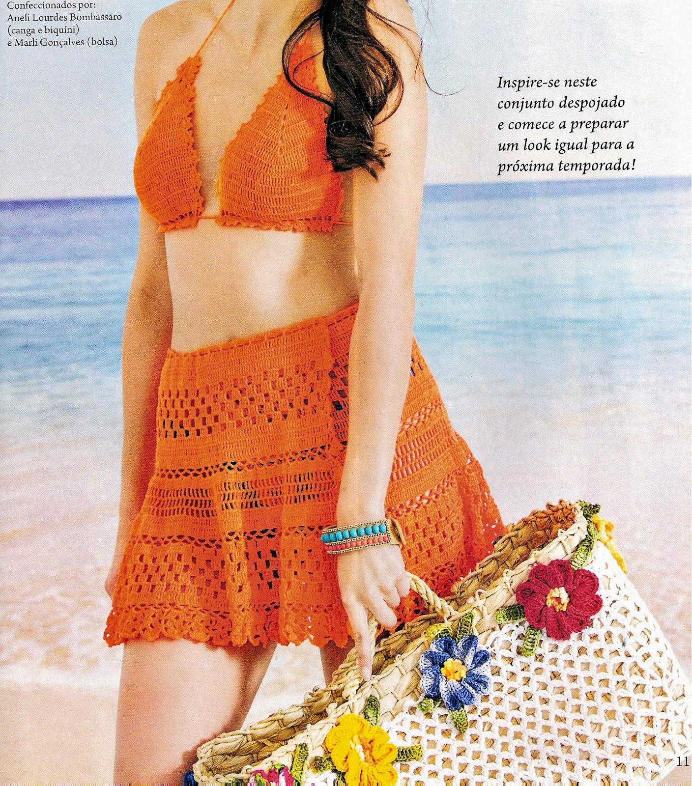 moda praia em croche em croche com receita
