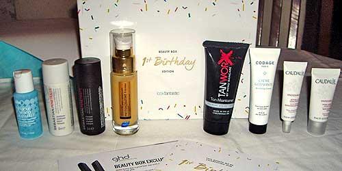 cosmeticos beautybox lookfantastic primer aniversario septiembre