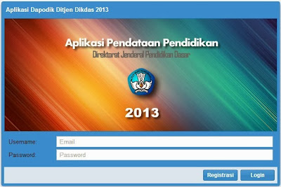 Panduan Menggunakan Aplikasi Pendataan Dapodik Dikdas 2013
