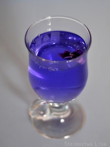 fiołkowy sok, fiołki,