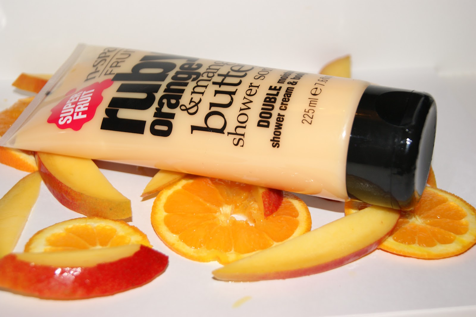 N spa ruby orange and mango butter shower sorbet review for Salon orange