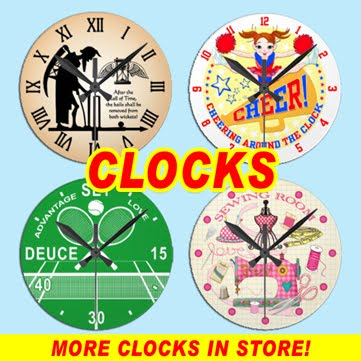 STAND UP AND CHEER CLOCKS