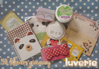 Luverie's 50 Followers Giveaway! (end on 19th october)