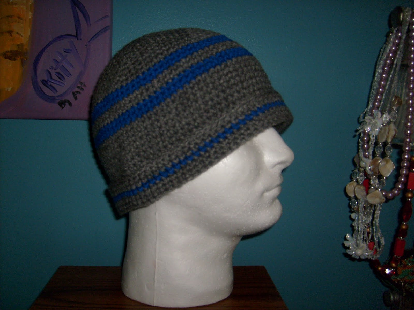 Manners Crochet and Craft: Simple Mens Beanie Hat
