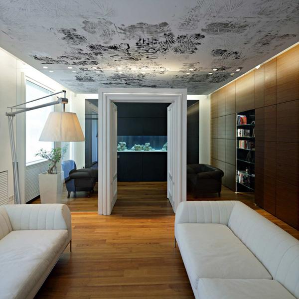 Casas minimalistas y modernas cielorrasos e iluminacion for Decoracion cielorrasos
