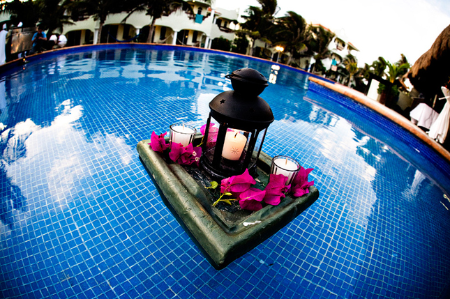Pool Wedding Decoration Ideas floating pool flower lanterns Gorgeous Pool Decorations For Weddings