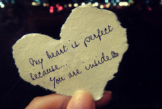 heart is perfect Love Quote and Saying