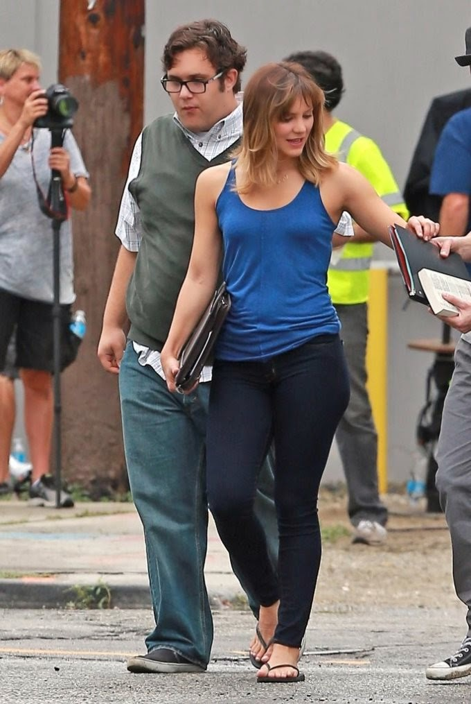 Katharine McPhee on the Set of_Scorpion