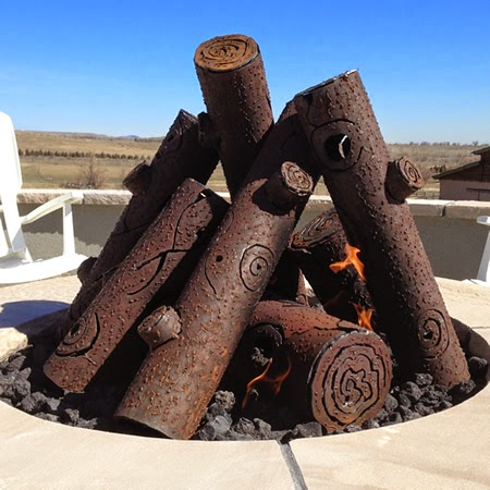 outdoor gas fireplace logs. Premium Tee Pee Steel Fire Pit Gas Logs The Resource  Log Options for Your Outdoor