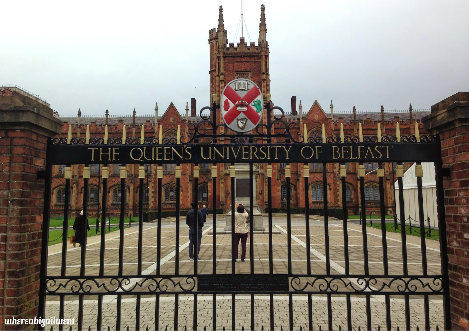 Gates In Front Of Lanyon Building Queen S University Belfast