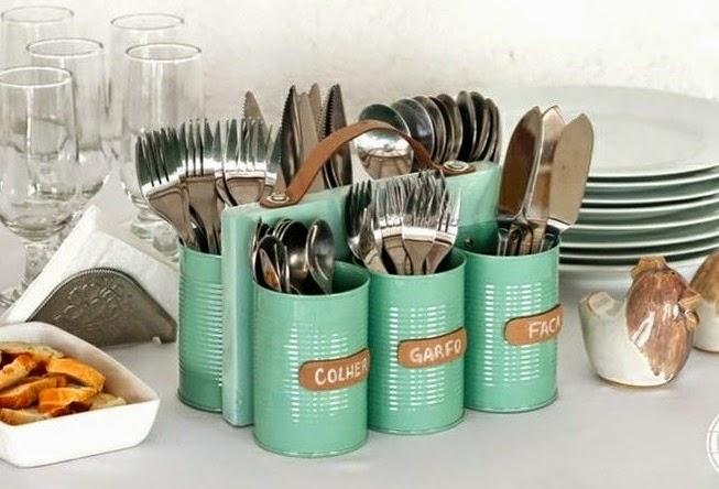 Manualidades recicladas con latas