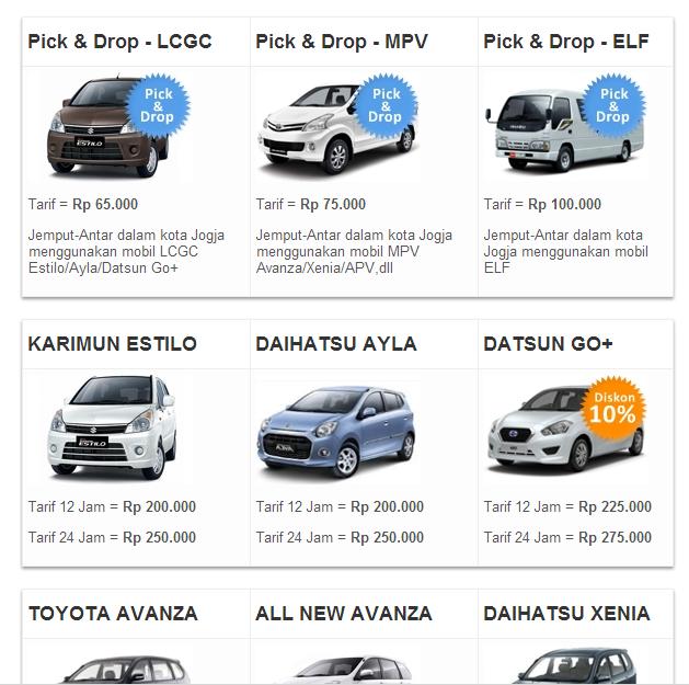 Rental Mobil Jogja Murah Terbaru 2015