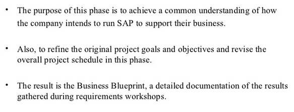 Sap sap implementation methodology phase 2 business blueprint malvernweather Image collections
