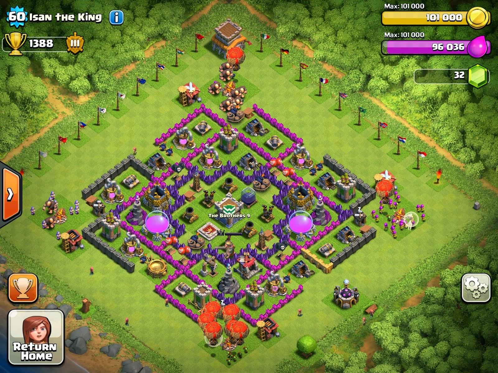 Tipe Tipe Base Clash of Clans