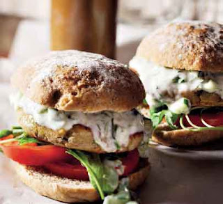 Falafel Burger With Herb-Yoghurt Sauce