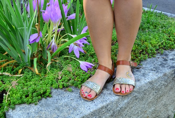 glitter sandals, fashion blog, style blog