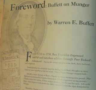 Warren Buffett forward on Charlie Munger for 'Poor Charlie's Almanack'