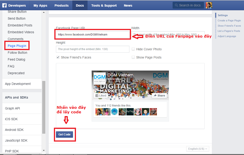 cach gan like fanpage facebook
