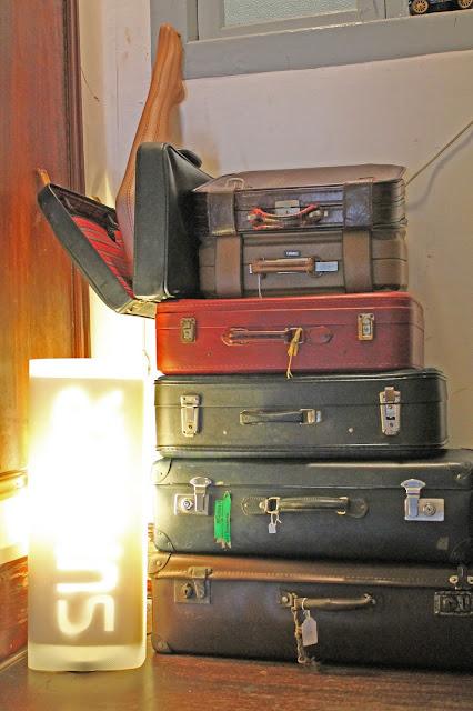 vintage, suitcases