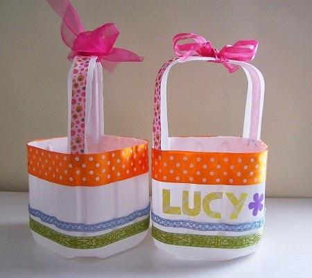 EcoNotas.com: Canastas de Pascua con Botellas Recicladas