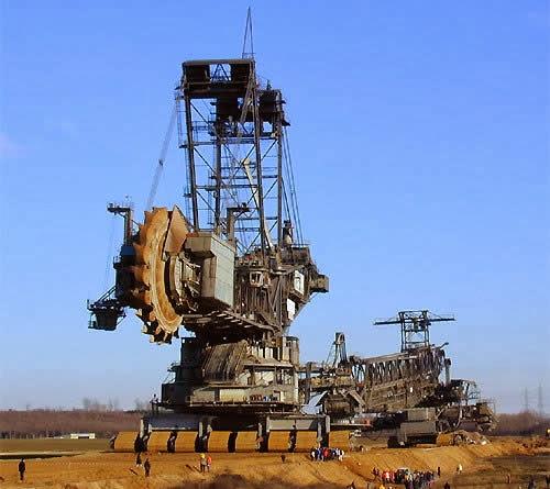 Una excavadora gigante.