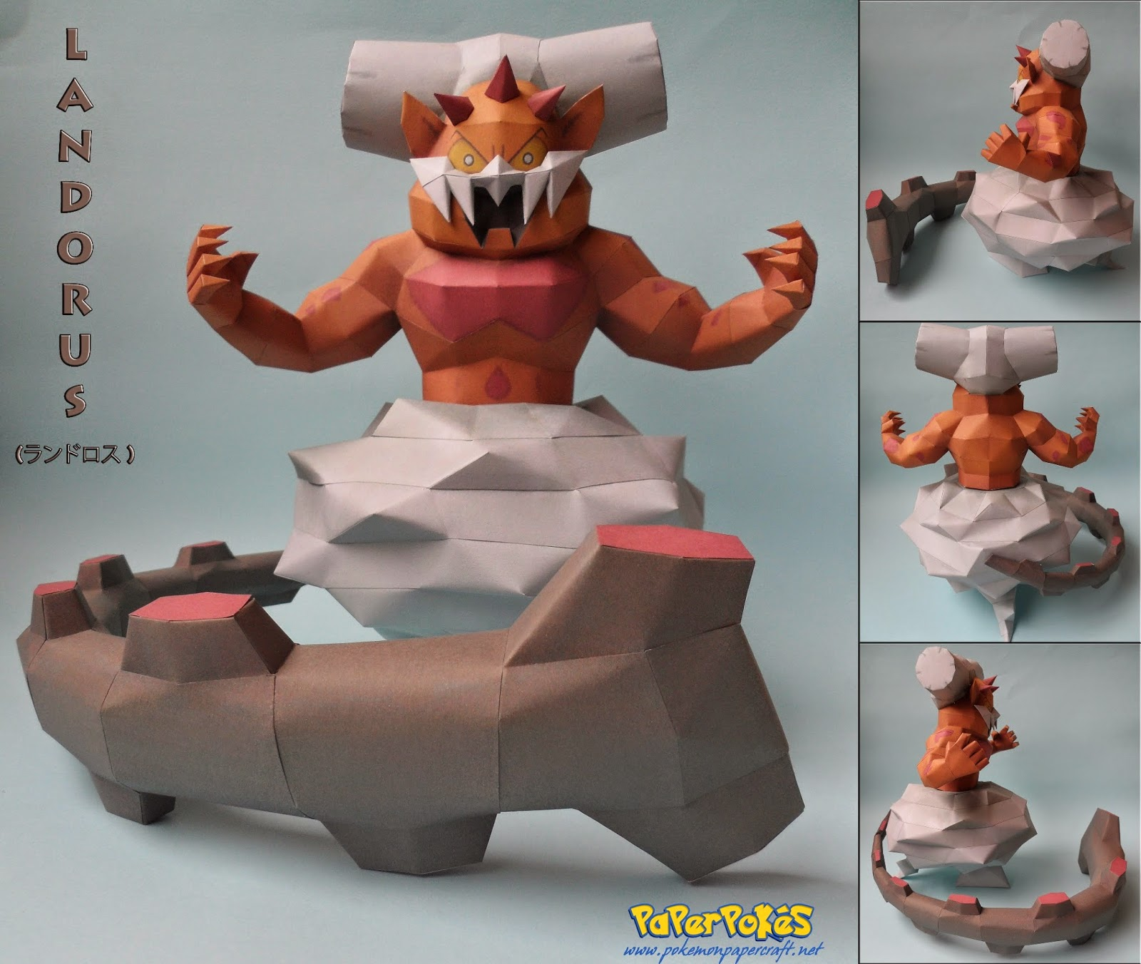 Pokemon Landorus Paper Model