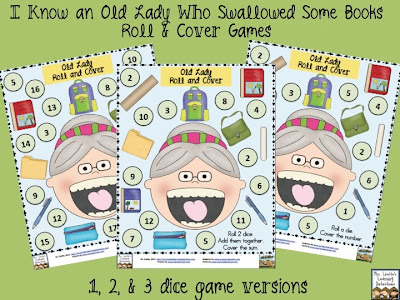 Old Lady Who Swallowed Some Books Roll and Cover FREE