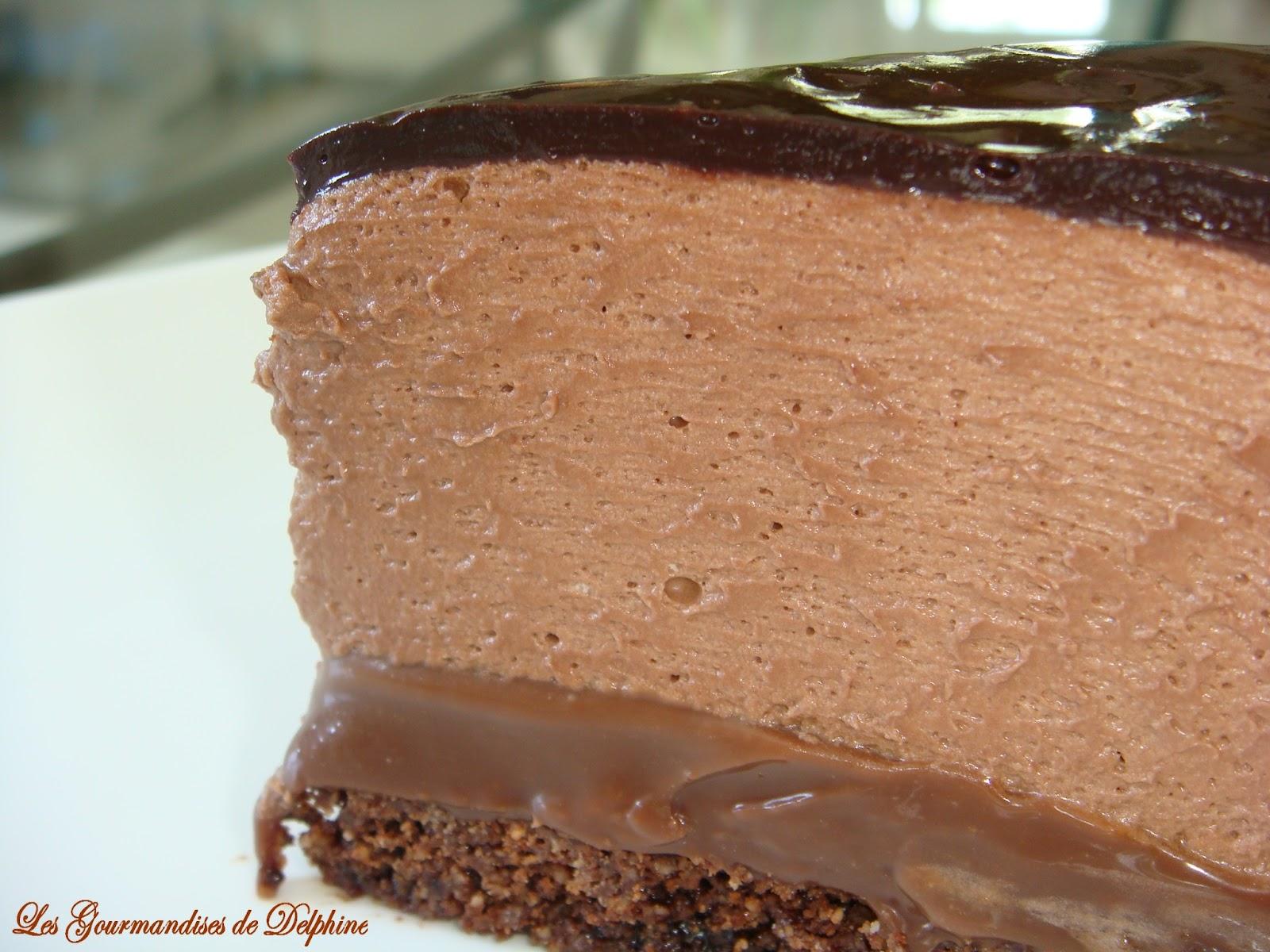 Gateau chocolat et mousse caramel