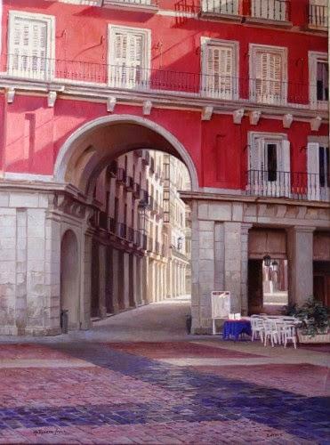 oleo-sobre-lienzo-henry-florez-soler-plaza-mayor-madrid