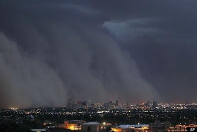 foto increible de la tormenta de arena en phoenix arizona 2011