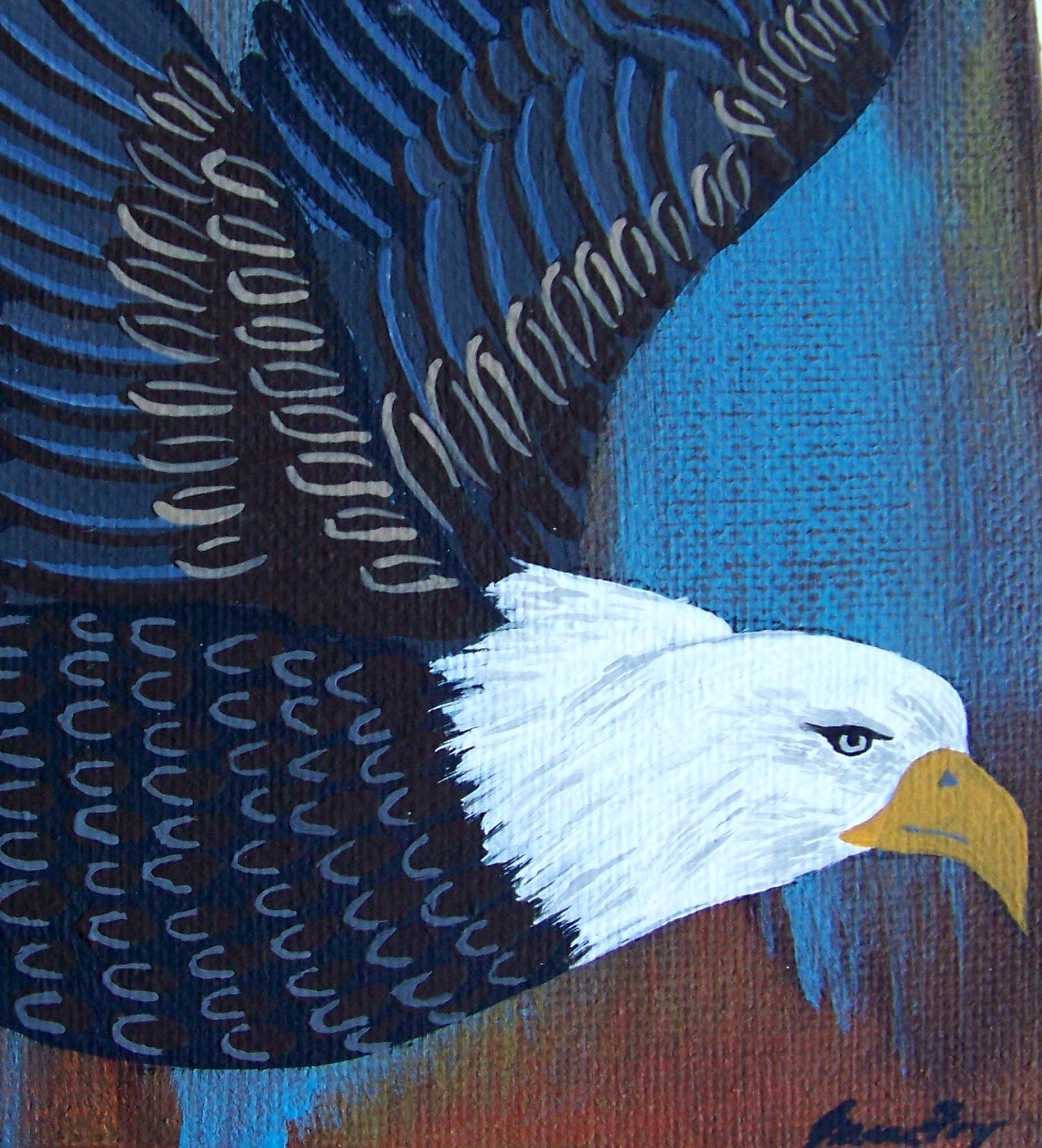 Conscious art studios soaring eagle totem and its symbolism soaring eagle painting by jeanne fry biocorpaavc Choice Image