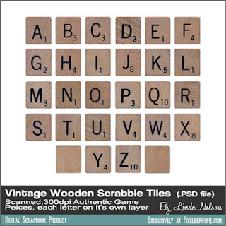 "Free Download: Vintage Wood Alphabet Game Tiles ""SCRABBLE!"""