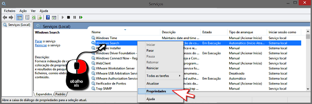 Aplicativo serviços do windows