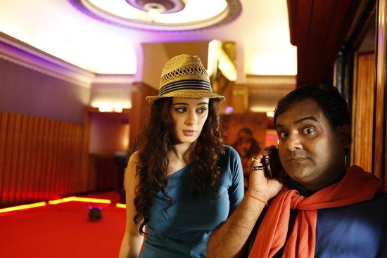 Sanjeev Bhatt with Evelyn Sharma