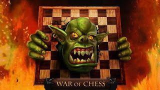 Screenshots of the War of chess for Android tablet, phone.