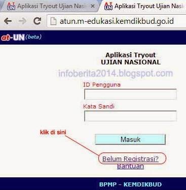 cara daftar aplikasi tryout online UN Kemdikbud (atun) part 1