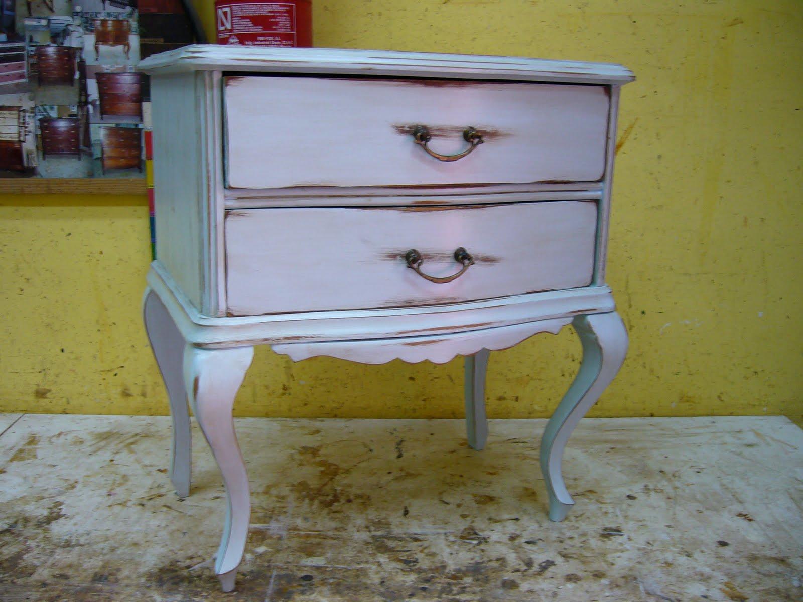 Pintar Mueble Azul Envejecido Beautiful Aparador Pintado Con  # Muebles Efecto Desgastado