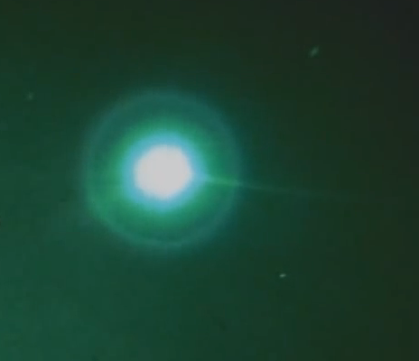 Latest UFO Sightings Green UFO Captured Above Australia