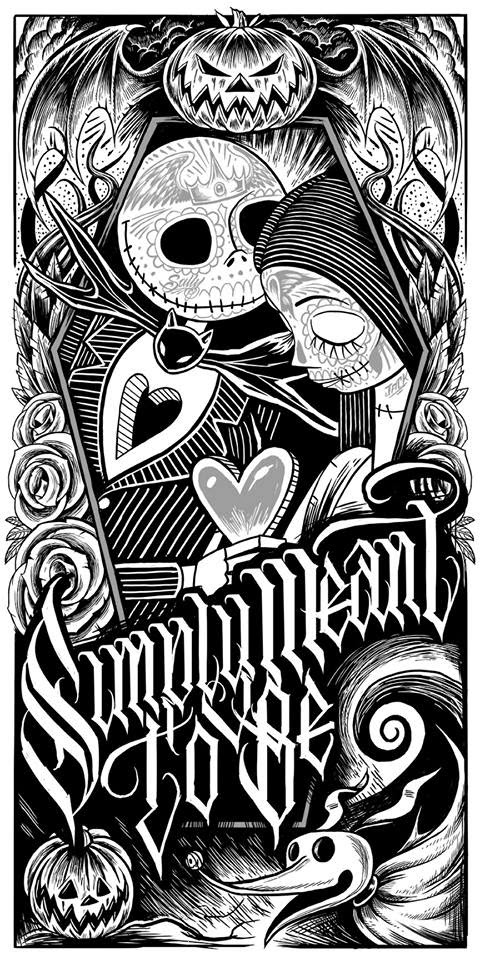 The blot says jack and sally muertitos the nightmare for Jack and sally coloring pages