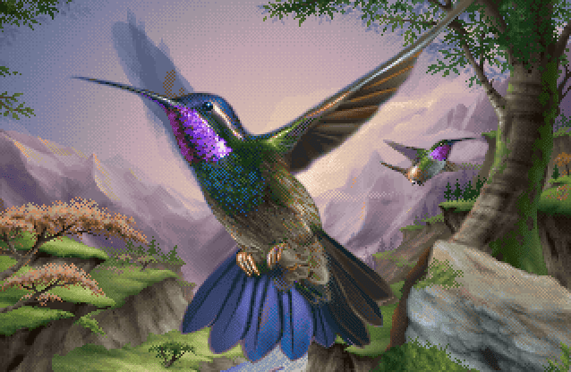 Kolibri 32X hummingbird art