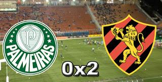 Ficha da Bola Placar Palmeiras 0x2 Sport