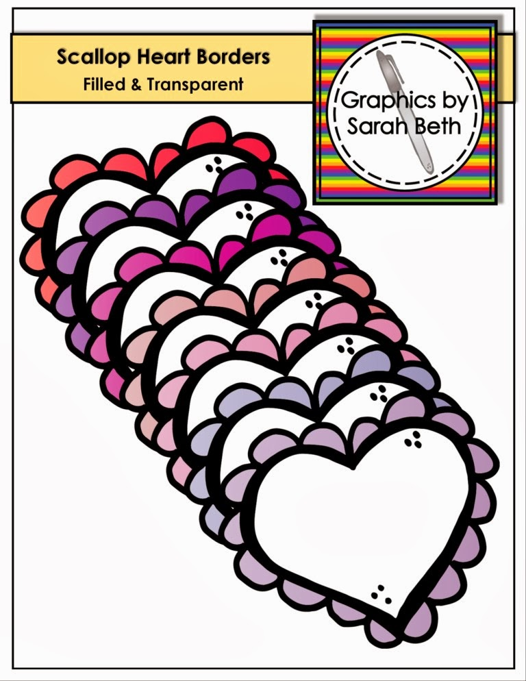 http://www.teacherspayteachers.com/Product/Scallop-Heart-Borders-Valentine-Borders-Clipart-Borders-1080822