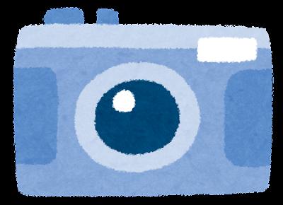 コンパクトカメラのイラスト