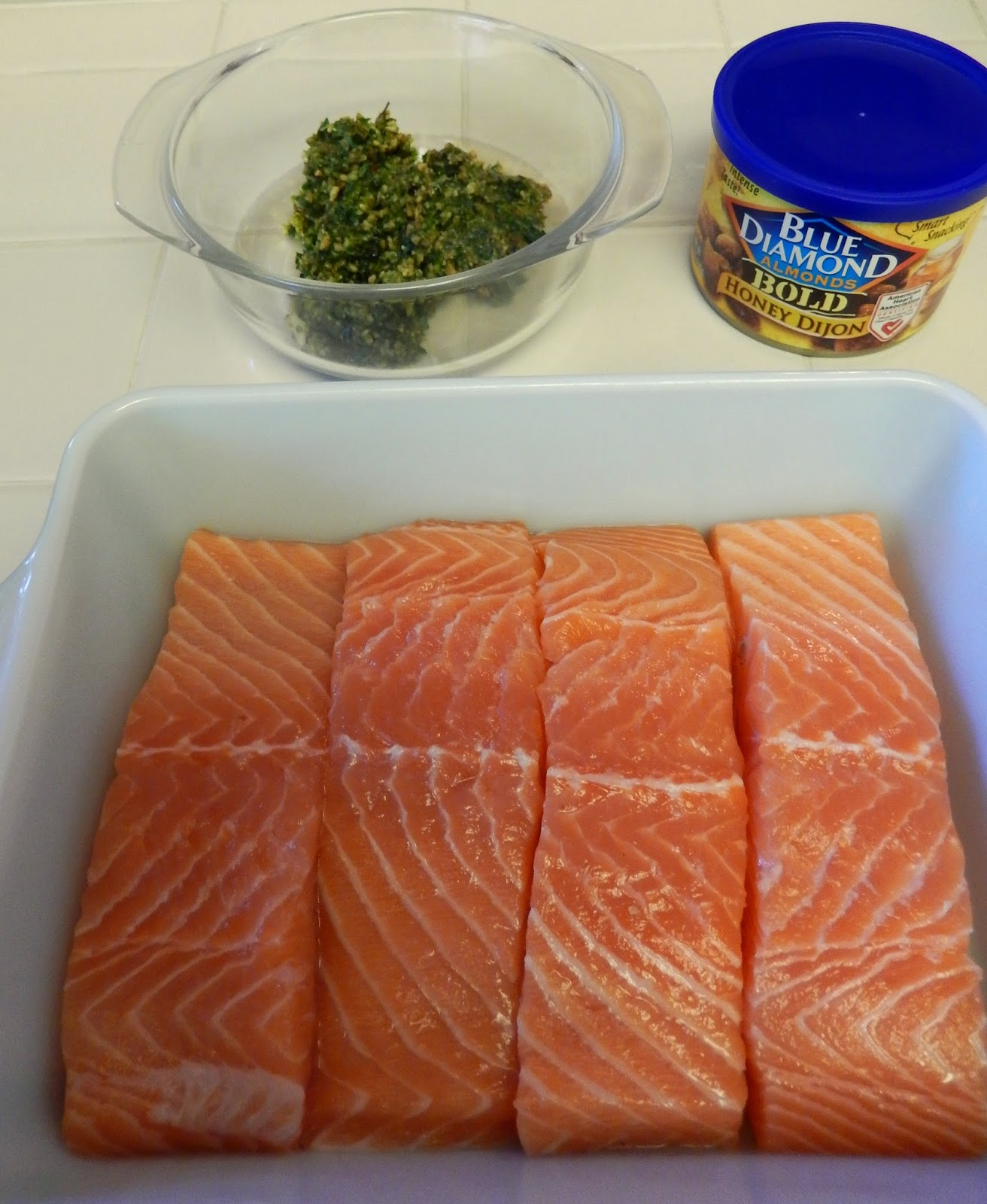 Blue%2BDiamond%2BEggface%2BSalmon%2BHoney%2BDijon%2BGremolata%2B3 Weight Loss Recipes Easy, Elegant, Healthy and DELICIOUS Easter Dinner