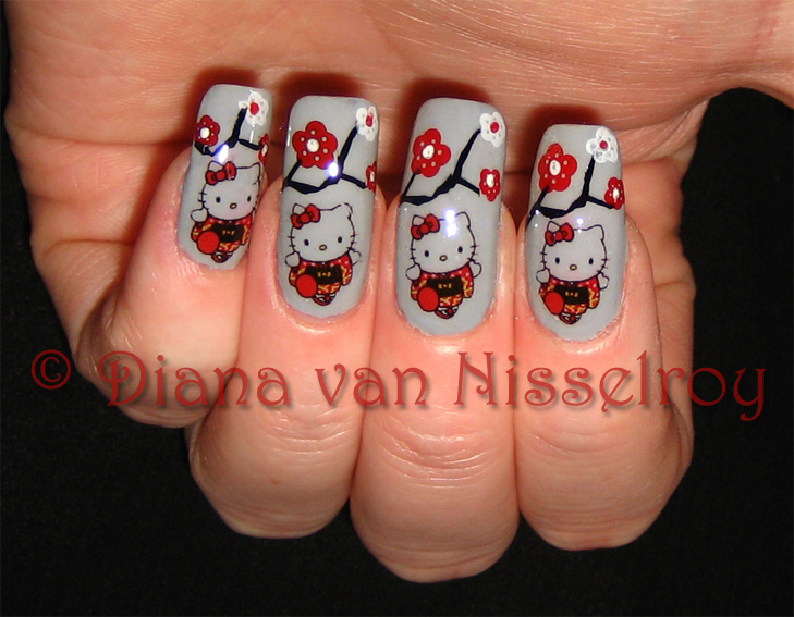 The Extraordinary Hello kitty japanese nail designs very cute Picture