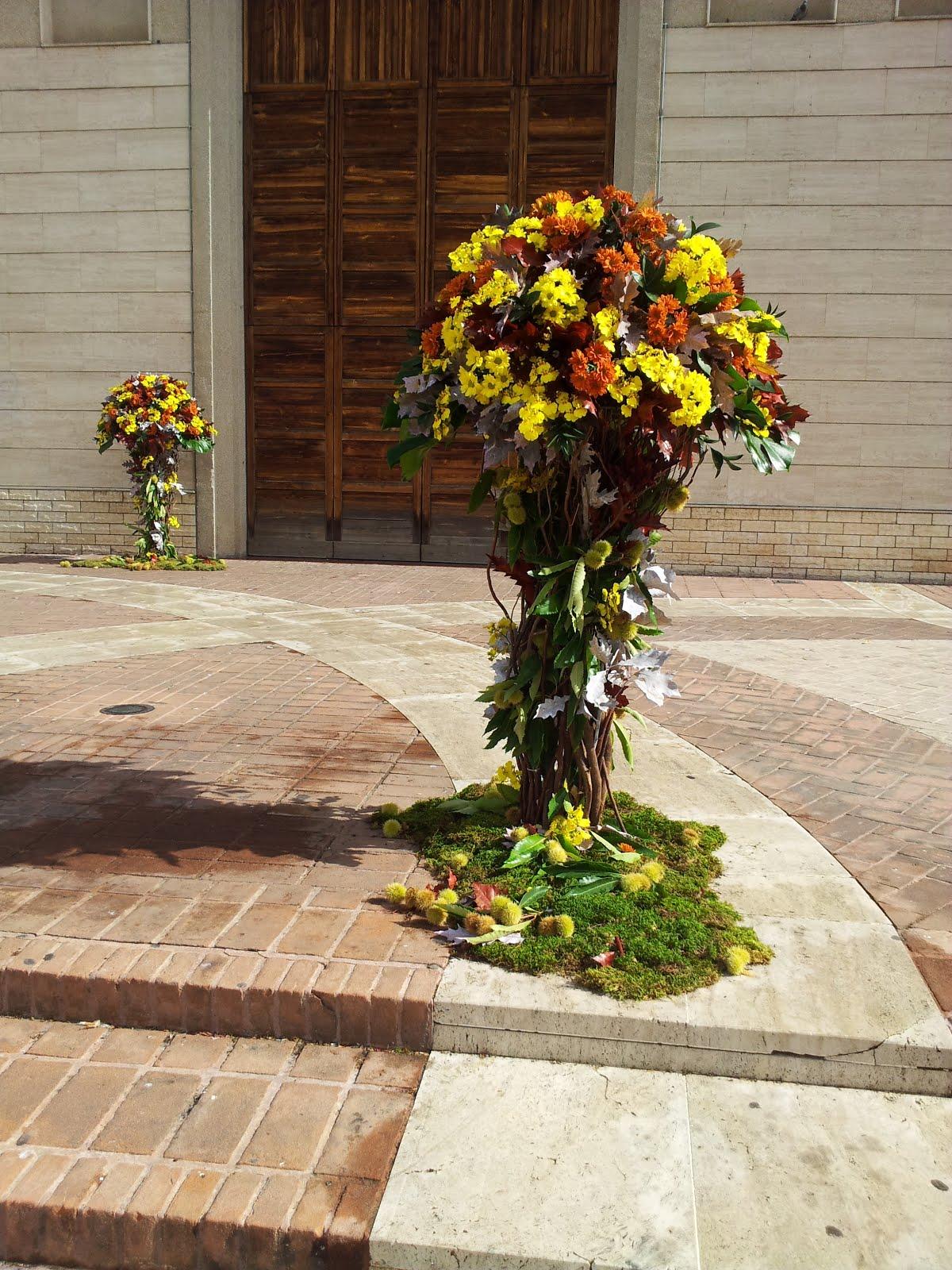 composizioni floreali matrimonio a tema autunnale