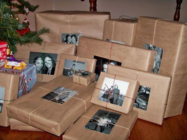 Embrulho de presente para o Natal - Fotos