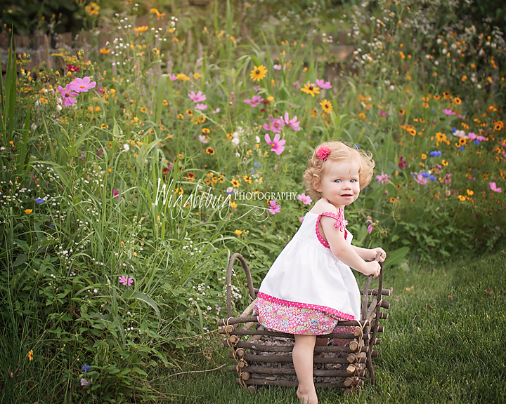 Geneva, IL children's photos with beautiful outdoor light in wildflowers