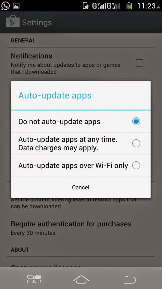 How to stop auto updates of app in android mobile in Hindi